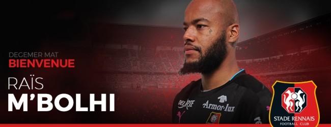 Raïs M'Bolhi assina pelo Rennes