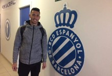 Leonardo Rodrigues treina-se no RCD Espanyol