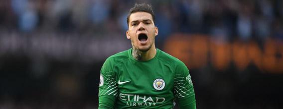 Ederson Moraes não falhou um passe no Manchester City FC 7-2 Stoke City FC