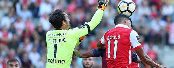 António Filipe é o guarda-redes da décima quarta jornada da Primeira Liga 2017/2018