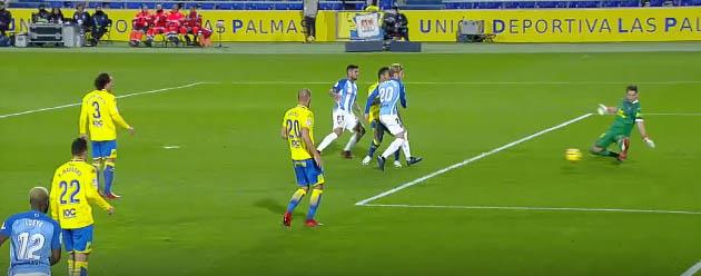 Leandro Chichizola protagonista em duas defesas – UD Las Palmas 1-0 Málaga CF