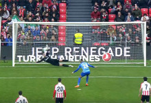 Kepa Arrizabalaga defende penalti de forma espetacular – Athletic Bilbao 2-1 Málaga CF