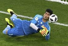 Alireza Beiranvand defende grande penalidade no Portugal 1-1 Irão