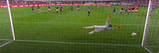 Odisseas Vlachodimos defende grande penalidade – SL Benfica 5-1 Boavista FC