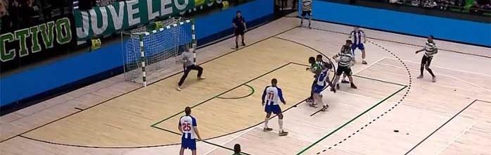 Matevz Skok e Alfredo Quintana contêm marcador em espetáculo de defesas – Sporting CP 26-23 FC Porto