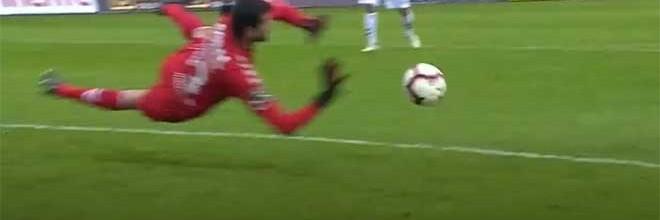 Daniel Guimarães coloca-se em várias defesas – CD Nacional 0-1 Sporting CP