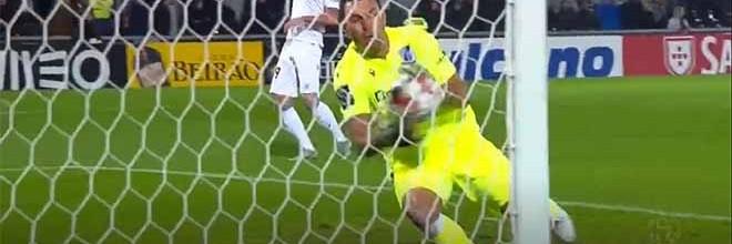 Douglas Jesus faz defesa quando já parecia golo certo – Vitória SC 0-2 SC Braga