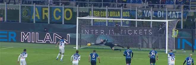 Samir Handanovic defende grande penalidade aos 88 minutos – FC Inter 1-1 Atalanta