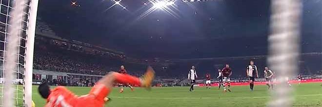 Gianluigi Buffon impede vários golos em defesas dificultadas – AC Milan 1-1 Juventus FC