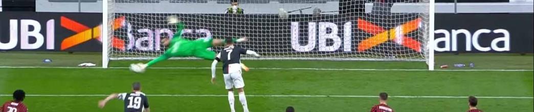 Gianluigi Donnarumma defende penalti de Cristiano Ronaldo – Juventus FC 0-0 AC Milan