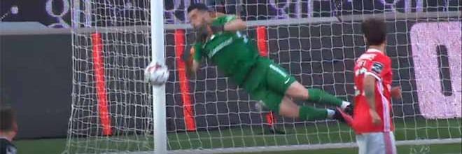 Marco Rocha intervém em várias ocasiões – SL Benfica 3-4 CD Santa Clara