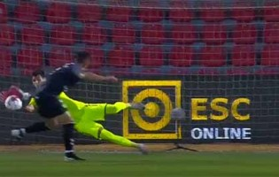 Raphael Aflalo defende grande penalidade – CD Aves 1-0 Vitória FC