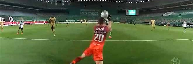 Léo Jardim faz duas defesas idênticas a respaldar a bola – Sporting CP 1-0 Boavista FC